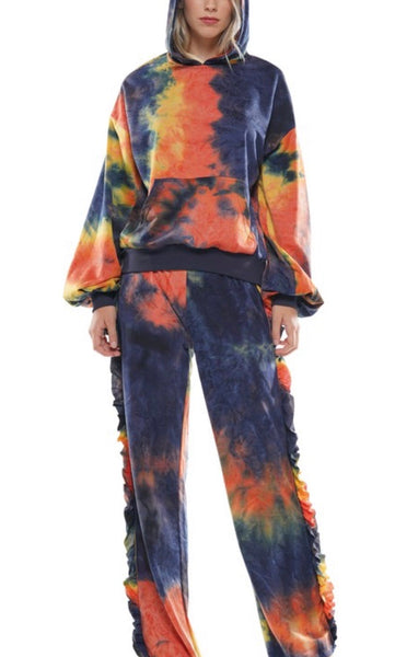 Multi-color Fall Tie Dye Set