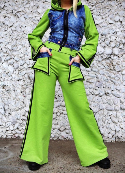Green & Denim Tracksuit