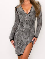 Black & Silver Studded Dress