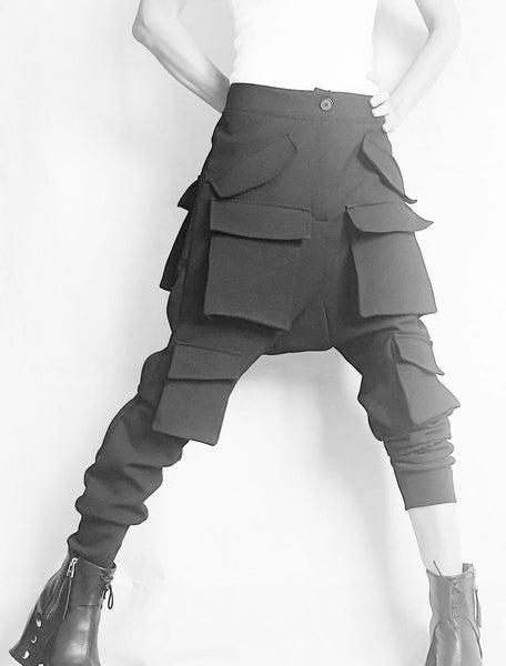 Black Urban Harem Pants