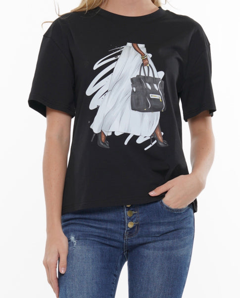 Bag Lady Graphic Tee (WHITE ONLY)