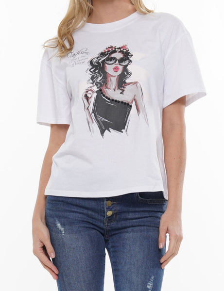FASHION SHOW Graphic Tee (White, Grey, Olive)