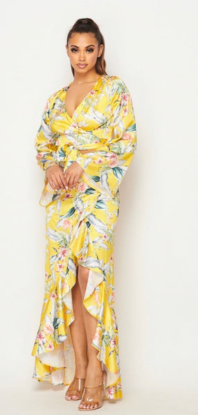 Floral Yellow Maxi Set