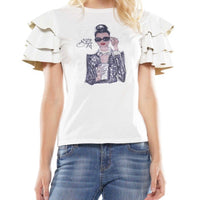 Coffee Lady Graphic Top (WHITE)