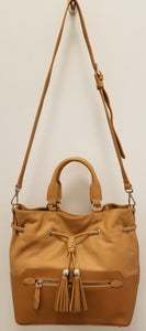 LANCASTER 523-47 NATURAL CONVERTIBLE HANDBAG