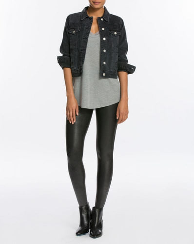SPANX 2437 FAUX LEATHER LEGGINGS