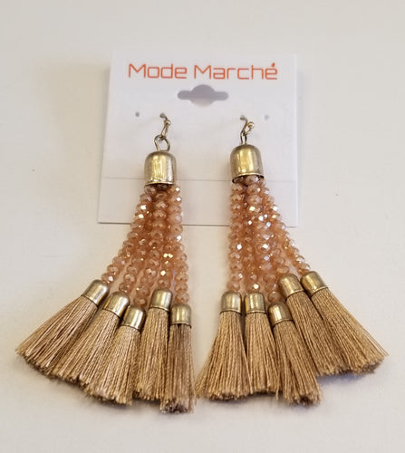 MODE MARCHE JJE009 CRYSTAL TASSEL DROP EAR