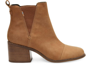 TOMS ESME TAN LEATHER BOOTIE