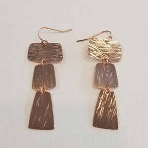 ALEX CAROL ROSE GOLD SQ EARRINGS