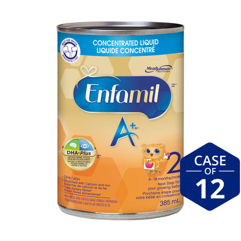 Enfamil A+® 2 Infant Formula, Concentrated Liquid, 385mL, 12 cans