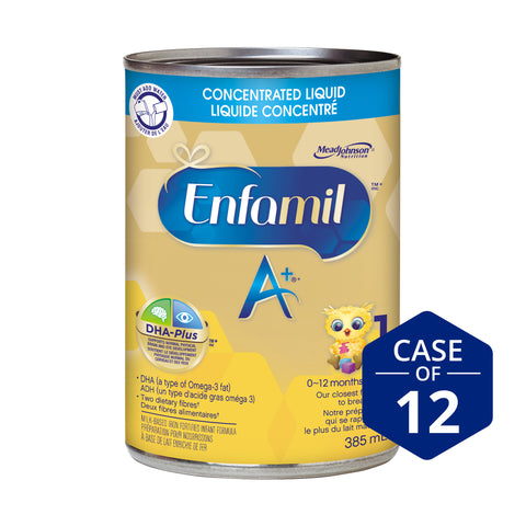 Enfamil A+® Infant Formula, Concentrated Liquid Cans, 385mL, 12 cans