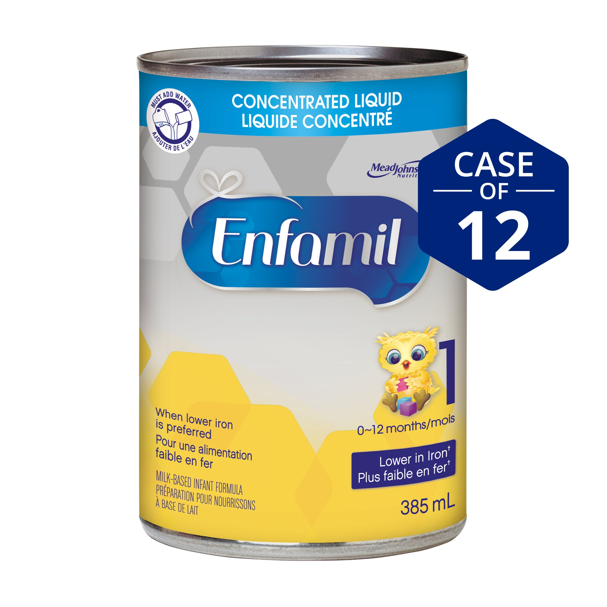 Enfamil® Lower Iron Infant Formula, Concentrated Liquid, 385mL, 12 cans