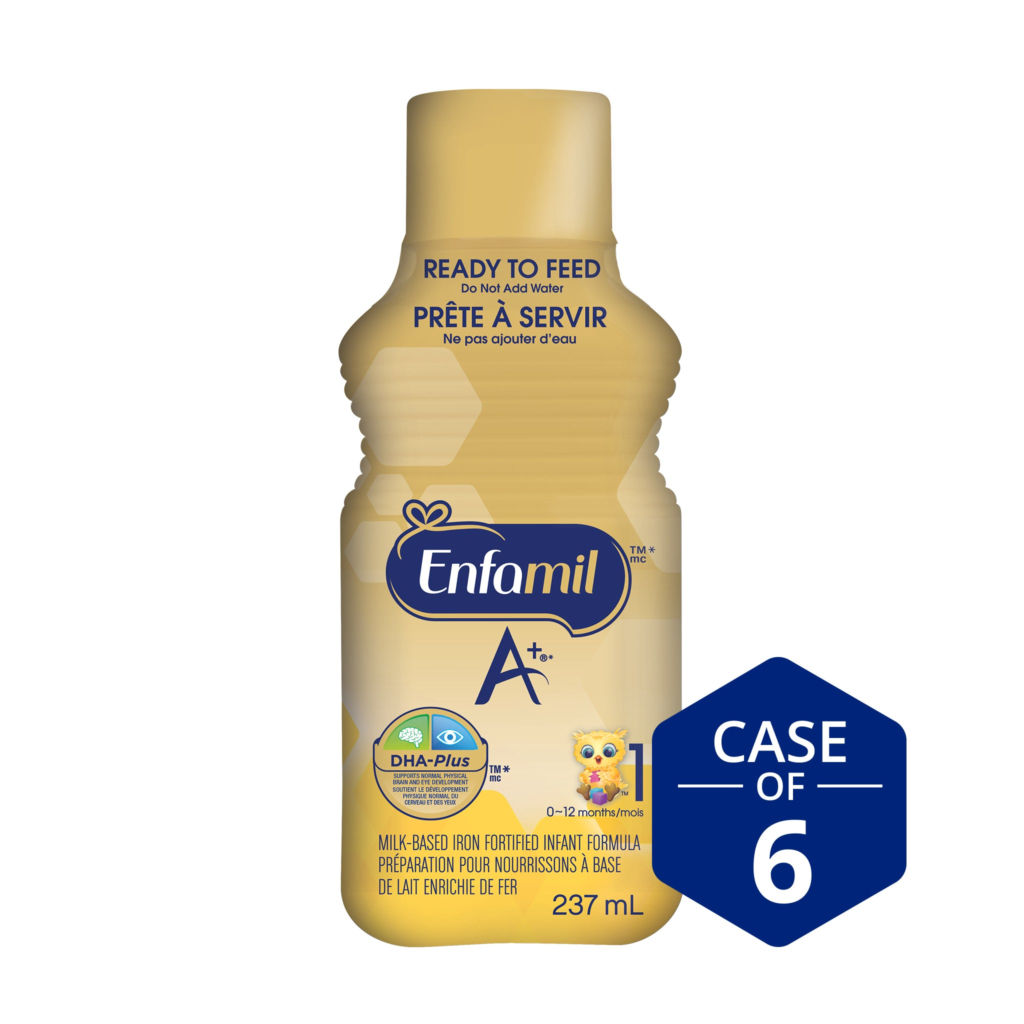 Enfamil A+® Infant Formula, Ready to Feed Bottles, 237mL