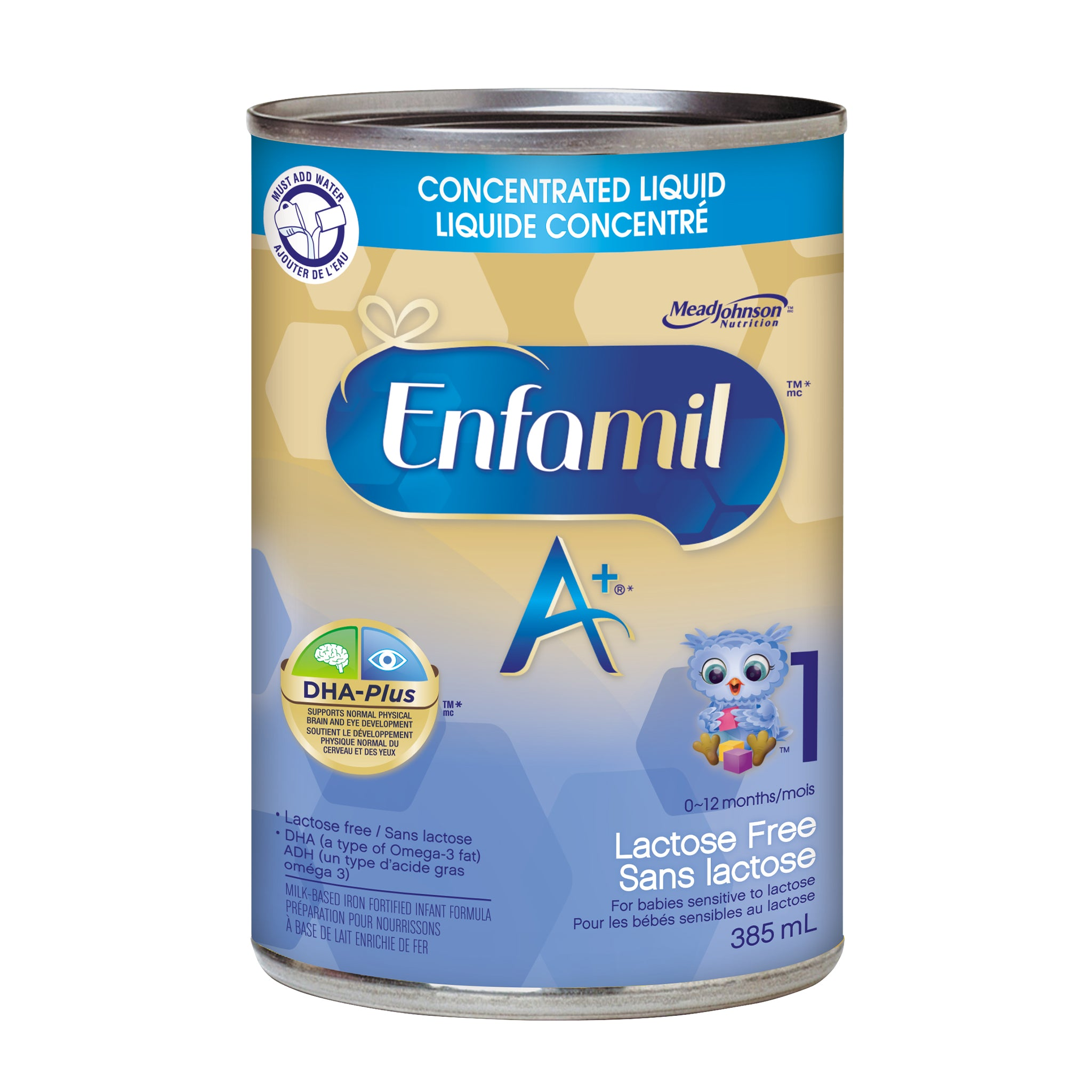Enfamil A+® Lactose Free Infant Formula, Concentrated Liquid, 385mL, 12 cans