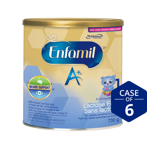Enfamil A+® Lactose Free Infant Formula, Powder, 730g
