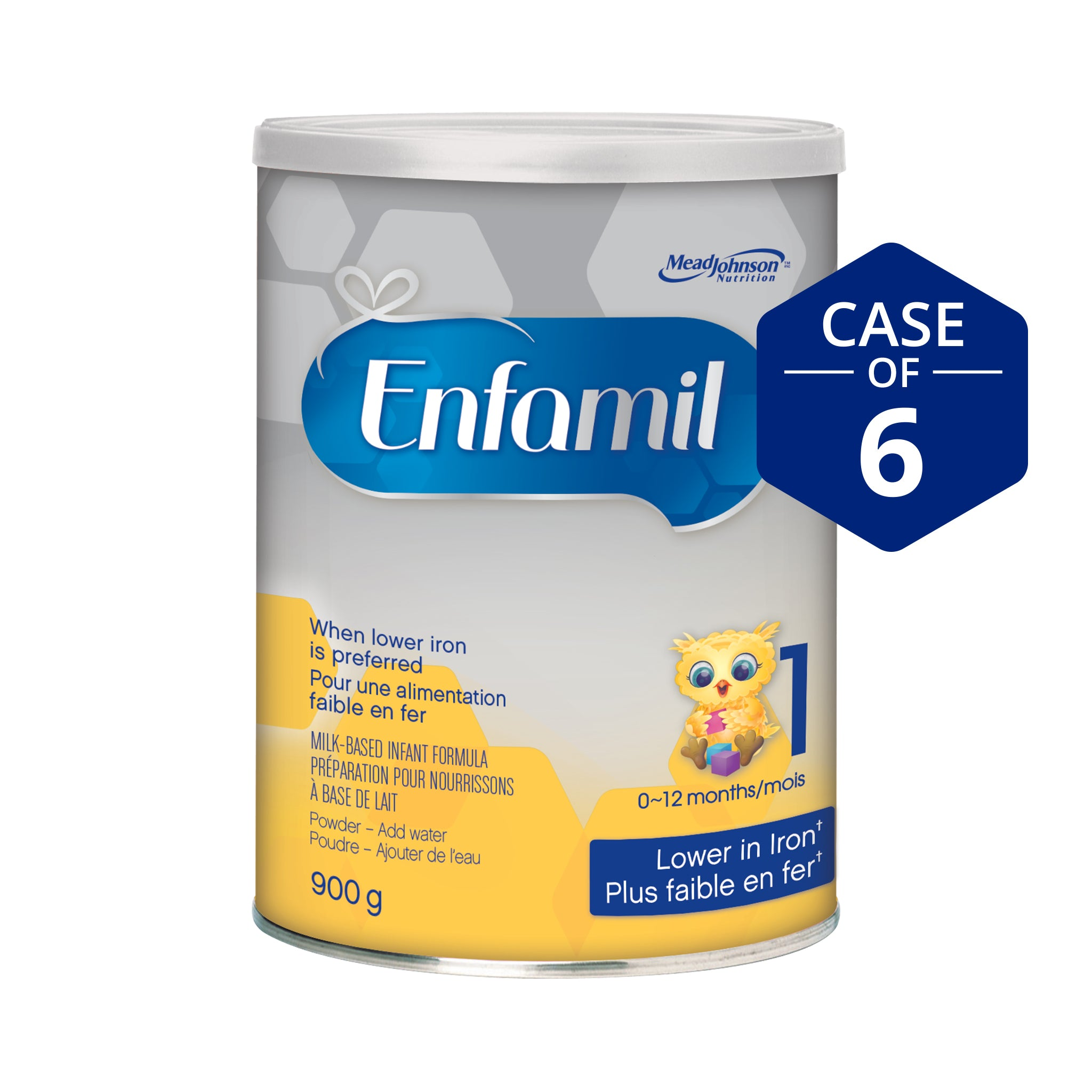 Enfamil® Lower Iron Infant Formula, Powder, 900g