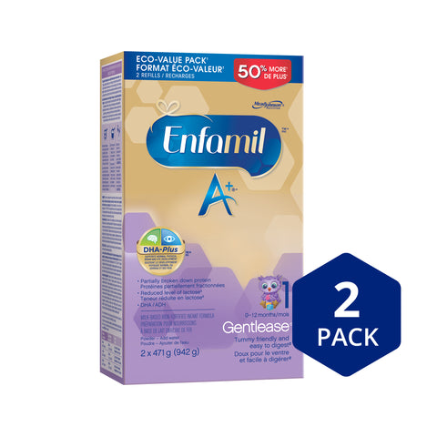 Enfamil A+ Gentlease® Infant Formula, Powder Refill, 942g
