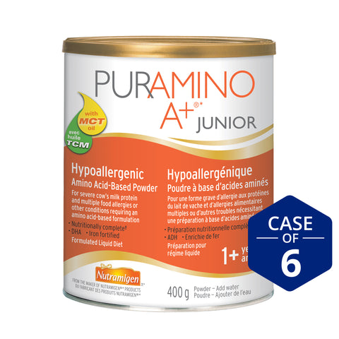 Puramino A+® Jr. Hypoallergenic Infant Formula, Powder, 400g