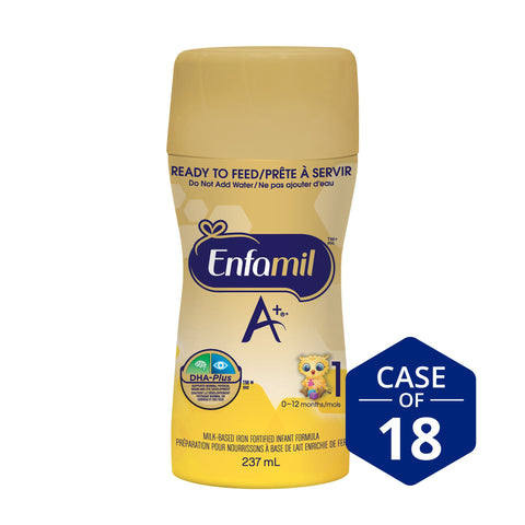 Enfamil A+® Infant Formula, New Nipple-Ready to Feed Bottles, 237mL