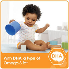 Enfamil A+, with DHA, a type of Omega-3 fat