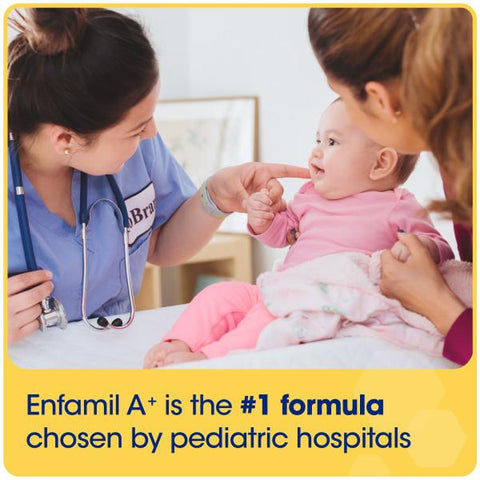 Enfamil A+, #1 formula chosen by pediatric hospitals