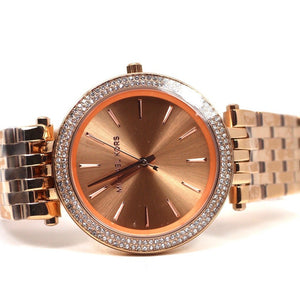 bf95d4be5336 Michael Kors Darci Pave Rose Gold-Tone Watch - MK3192 – The Golden ...