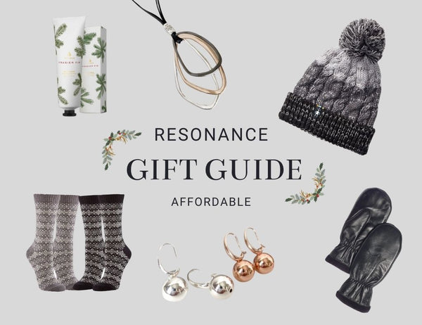 The image has a headline that reads: Resonance Gift Guide - Affordable