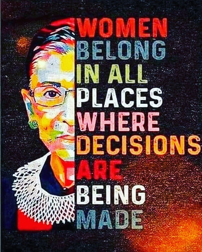Ruth Bader Ginsberg Women Belong in all places where decisions are made