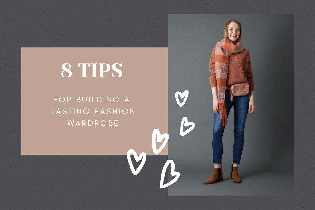 Indi & Cold braided waist bag - headline reads 8 tips for building a lasting fashion wardrobe