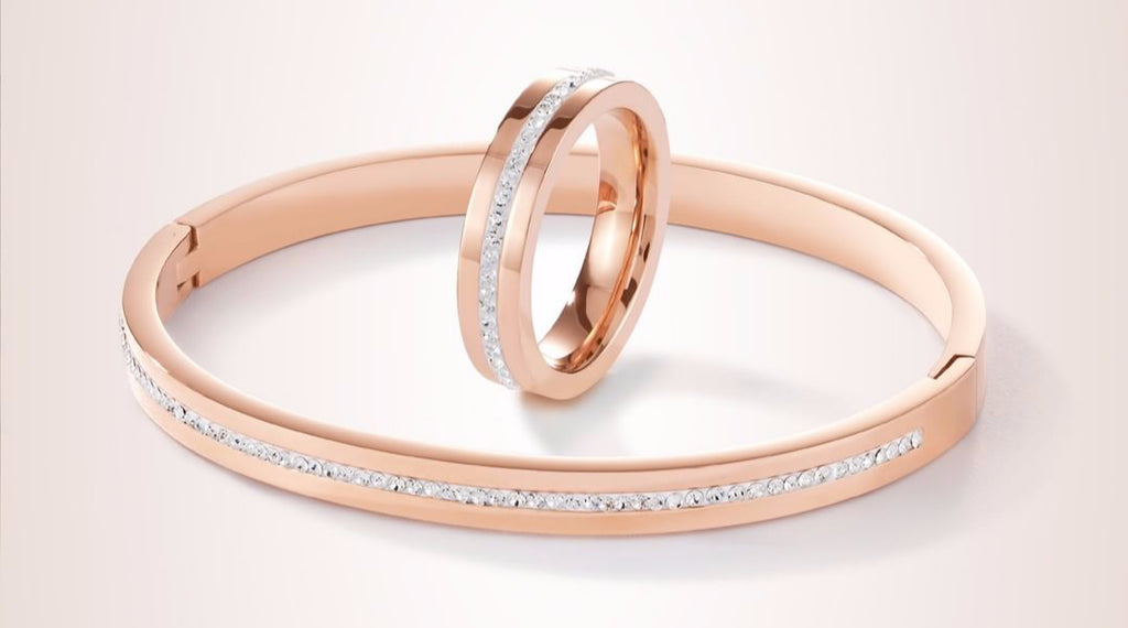 coeur de lion crystal pave strip ring and bangle