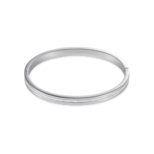 Load image into Gallery viewer, Coeur De Lion Stainless Steel Crystals Pavé Strip Bangle