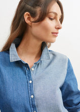 Load image into Gallery viewer, Saint James Sandrine Contrast Cotton Denim Shirt