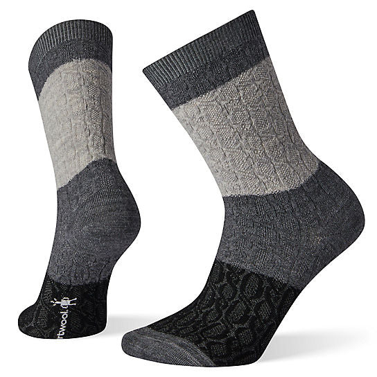 Smartwool Colour Block Cable Crew Wool Socks