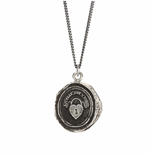 Pyrrha Heart Lock Necklace N1808-18