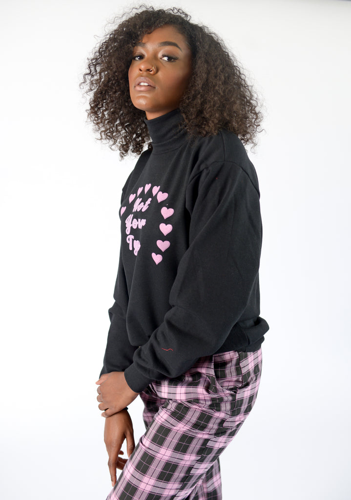 NOT YOUR TYPE MOCK NECK SWEATER - FEMMEMUTE Women's Streetwear