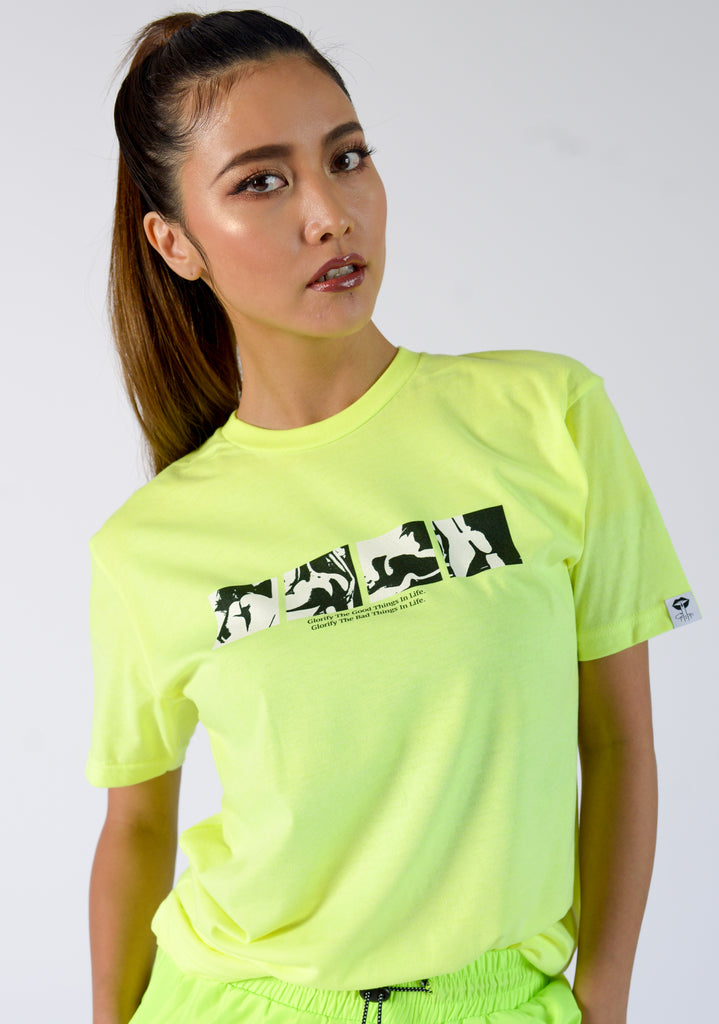 BAD THINGS NEON TEE - FEMMEMUTE Women's Streetwear