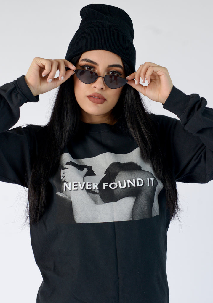 NEVER FOUND IT L/SL TEE - FEMMEMUTE Women's Streetwear