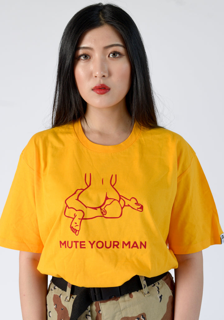MUTE YOUR MAN TEE - FEMMEMUTE Women's Streetwear