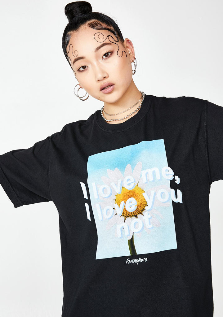 LOVE YOU NOT TEE - FEMMEMUTE Women's Streetwear
