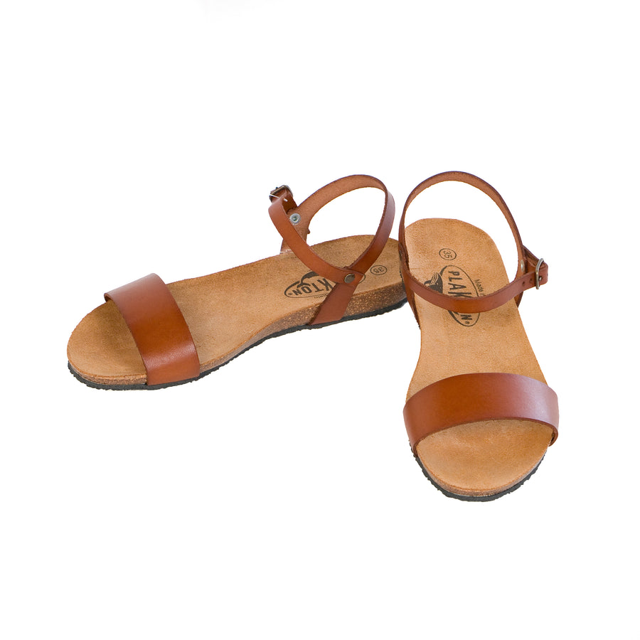Plakton Damen Single Strap Sandalen