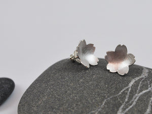 Cherry Blossom Studs in Silver
