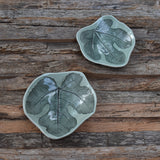 Set of Fig Leaf Tiny Dishes in Celadon (Set B)