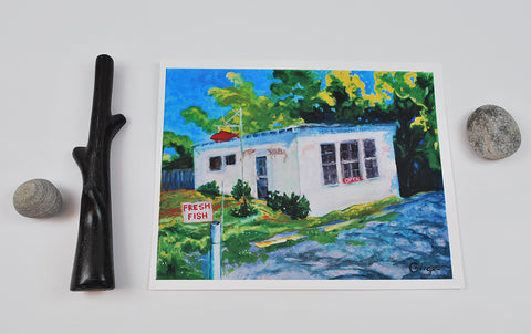 """Fish Shack"" Archival Print 8x10"