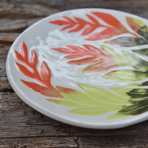 Flame Plant Small Shallow Dish