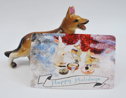 Happy Holidays Postcard Single