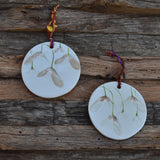 Maple Seeds on Porcelain with Underglaze Details Size Large