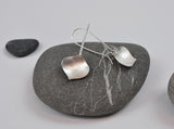 Silver Onion Earring--Brushed Recycled Silver on Silver Kidney Earwires