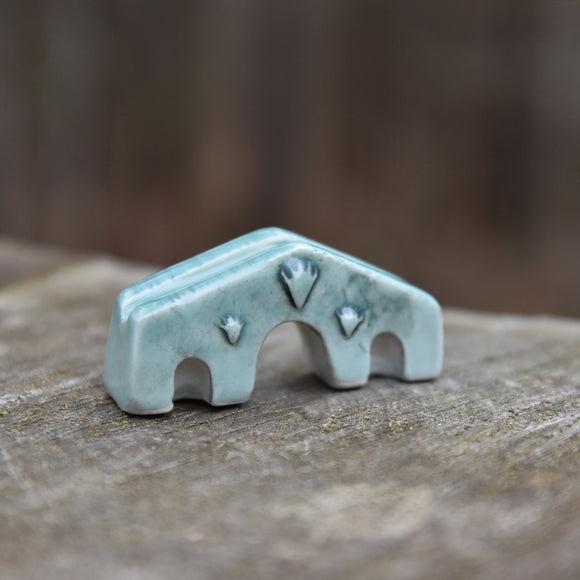 Paris Bridge in Celadon Tiny Sculpture