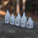 Peace Houses Set of 5 Houses in Porcelain