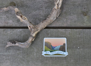 """So Delighted"" Free Solo Yosemite Valley Indoor Outdoor Vinyl Sticker"